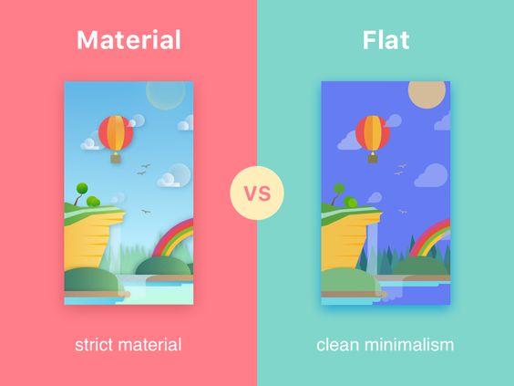 Material vs. Flat