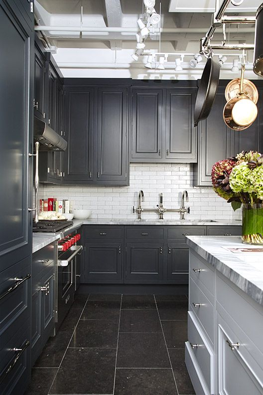 Building kitchens and dark cabinets on pinterest for Kitchen cabinets 3rd ave brooklyn