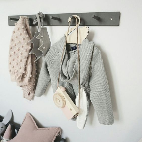 decoración infantil gris estilo nórdico