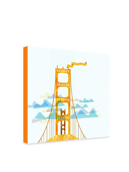 Jennifer Hill San Francisco Golden Gate Gallery Wrapped Canvas by DENY Designs at Gilt