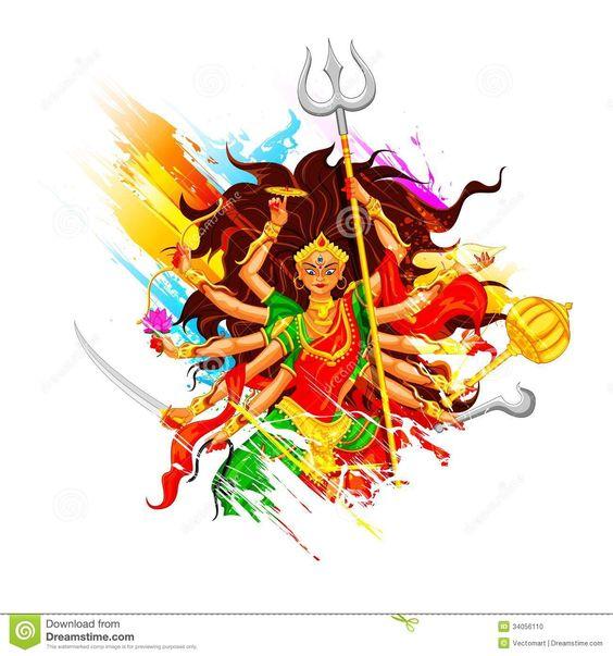 Happy-dussehra-goddess-durga-illustration-subho-bijoya
