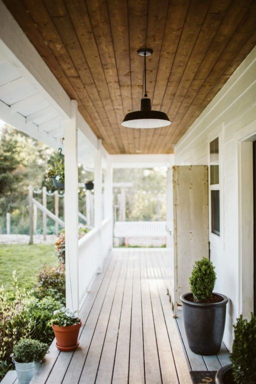 White Farmhouse Classic Barn Lights A Dream Come True Inspiration Front Porch Lighting Porch Lighting Barn Lighting