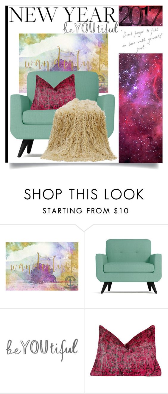 """""""New Year be-YOU-tiful"""" by wuzzyswardrobe ❤ liked on Polyvore featuring interior, interiors, interior design, home, home decor, interior decorating and HiEnd Accents"""