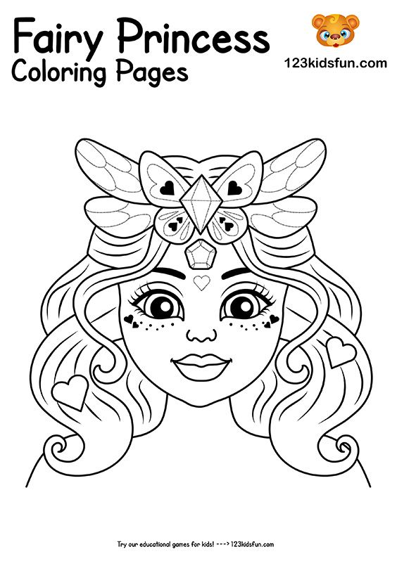 Free Printable Fairy Princess Coloring Pages For Girls 123 Kids Fun Apps Princess Coloring Sheets Princess Coloring Pages Princess Coloring