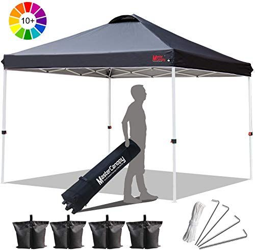 New Mastercanopy Compact Canopy 10x10 Ez Pop Canopy Portable Shade Instant Folding Better Air Circulation Canopy Wheeled Bag X4 Canopy Sandbags X4 Tent Stakes In 2020 Portable Shade Tent Stakes Tent