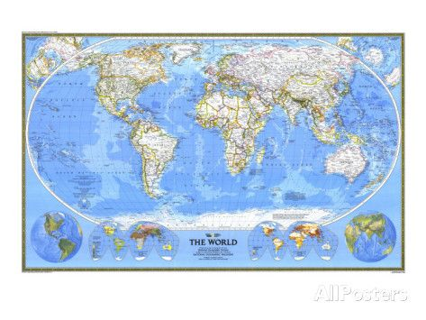 1988 World Map Posters at AllPosters.com