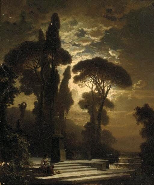 "Détournements Mineurs — ""Contemplation by Moonlight"" by Bernhard Stange..."