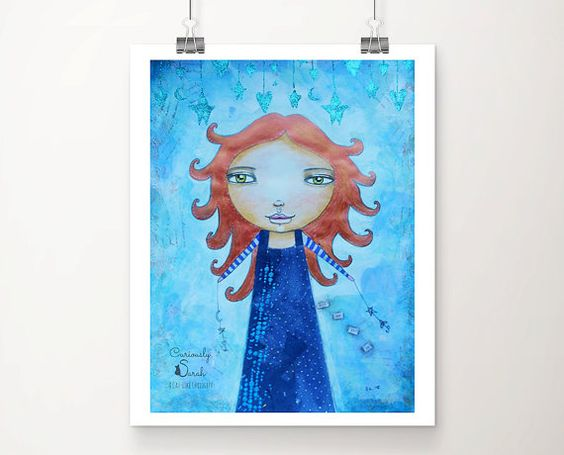 Art Prints for Sale Online, Fine Art Print, Wall Art Home Decor, Whimsical Art, Poster Art Prints, Wicca Girl Art, Gift for Women, Witch Art
