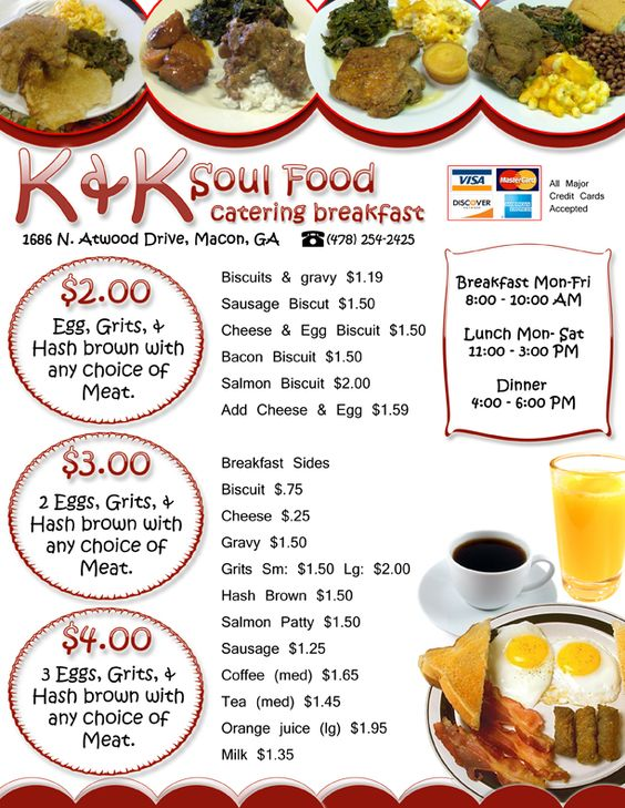 Soul Food Menu  Soul Food Catering And Breakfast  Food And Drink
