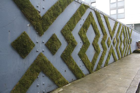 Moss installation at Kings cross by Anna Garforth.