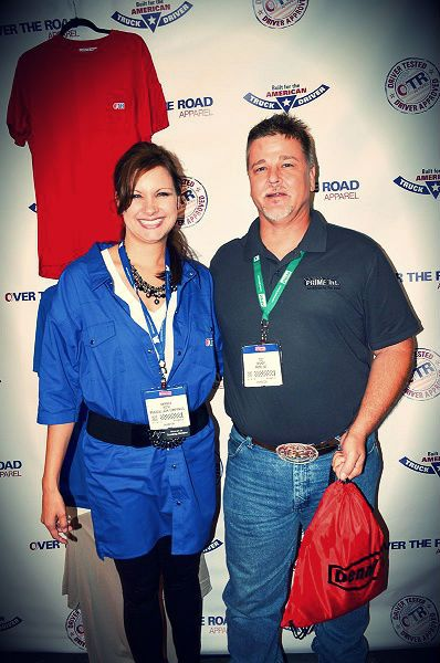 Meadow Lark Logistics and OTRapparel CEO Amanda Roth and friend at the Great American Truck Show