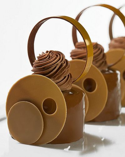 """""""Gianduja"""" Petit Gateaux. Recipe in my new Chocolate Book that will be ready for pre order this week!! """"Chocolate"""" is Bachour's 3rd book in 3 years and nothing like the 1st two. This Book will include Entremet, Petit Gateaux, Verrines, Tarts, Bonbons and  