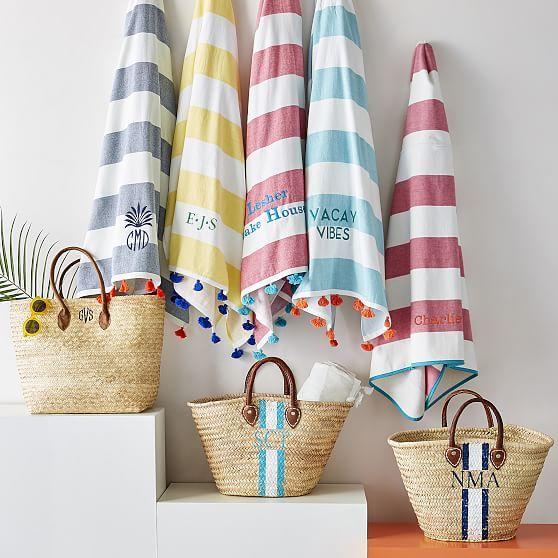 Pom Pom Beach Towel Circle Beach Towel Instagram Shop Orange