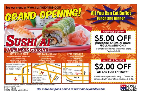 Coupon for sushi ai