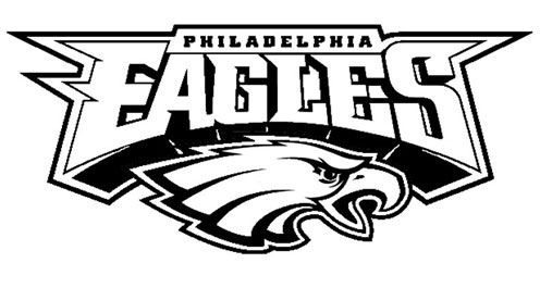 Image Result For Eagles Black And White Logo Eagles Football Team Football Coloring Pages Eagles Football
