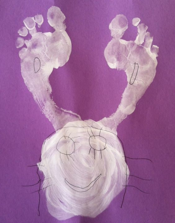 Easter footprint ideas