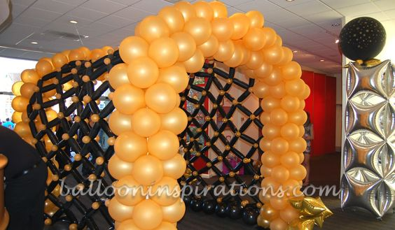 Balloon arch balloons and homecoming decorations on pinterest for Balloon decoration london