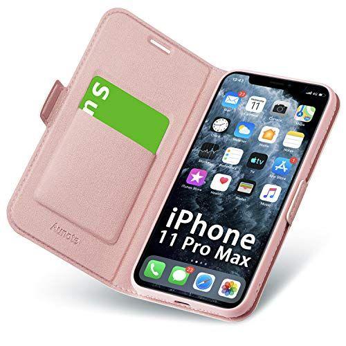 Aunote Coque Pour Iphone 11 Pro Max Ultra Mince Portefeuille Emplacement Carte Fermeture Magnetique Rabat Flip Case Clapet Foli Coque Iphone Etui Iphone Iphone