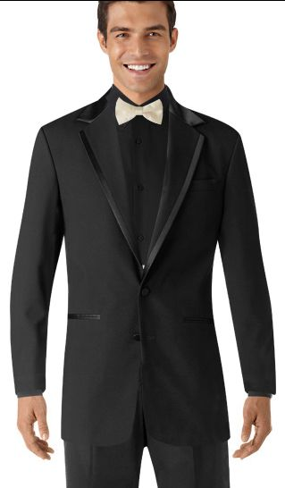 Groom's Suit all black with colored bow Tie | Wedding | Pinterest