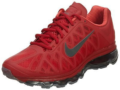 Nike Air Max 2011 Mens 684530-601 Gym Red Grey Athletic Running Shoes Size 10