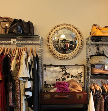 Suitcase display :: Oxfam Boutique