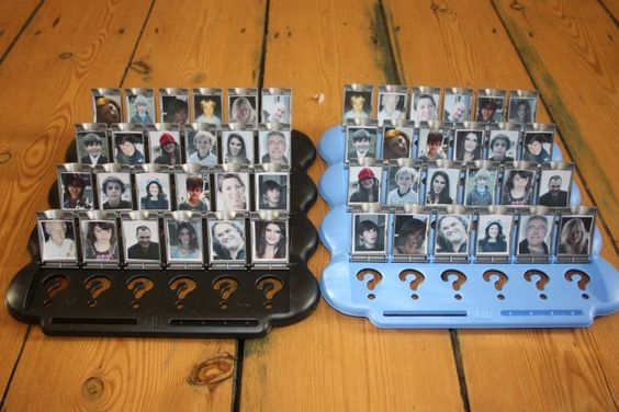Homemade Guess Who: People you actually know. Made one of these on a rainy day with my BFF when we were kids!