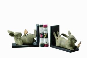 Buy Reading Rabbit Bookends Unique Because Of Its Comic Look At Wildorchidquilts.Net