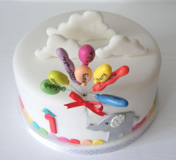 First birthday cake.. www.byjojo.co.uk