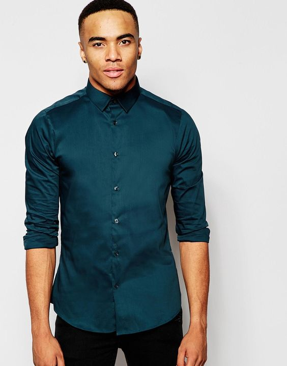 New Look Smart Shirt in Green