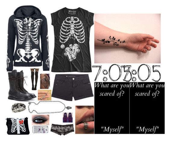 """7:05"" by dark-jewel ❤ liked on Polyvore featuring Rick Owens, Casetify and Bellybutton"