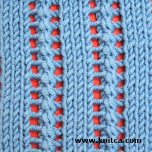Knitting Stitches Yarn Back : Right side of knitting stitch pattern   Lace 2 *links to other nice stitch pa...