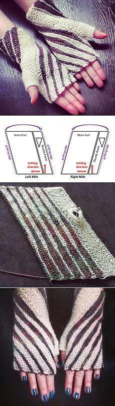 Para el tejido y así sucesivamente: Winding Mitts