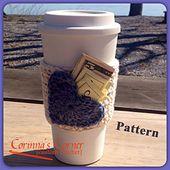 Ravelry: Open Heart Pocket Hot or Cold Drink Sleeve- Crochet pattern by Corinna Varilek