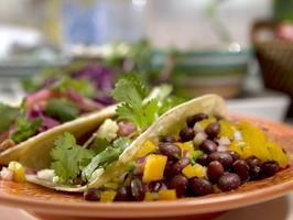 Black Bean Salad with Mango, Cilantro and Lime