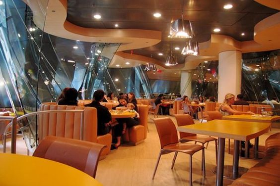 America's Coolest Corporate Cafeterias -  http://www.takepart.com/photos/9-corporate-cafeterias-keep-employees-satisfied/google