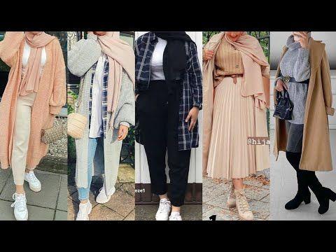 ملابس محجبات خريف 2021 ملابس محجبات شتاء 2021 ملابس الخريف ملابس الشتاء ملابس محجبات للعيد Youtube Tops Fashion Kimono Top