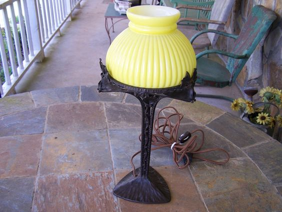Arts & Crafts Signed Lamp