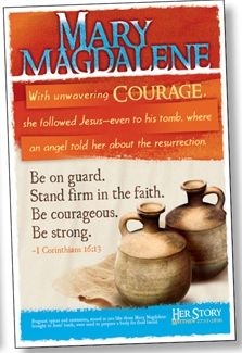 Last bible study of the winter season will be on Mary Magdalene .: