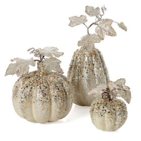 Beaded Pumpkins- I can't wait to put these on the dining room table!