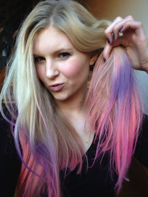 Lather Rinse Repeat: Pink, Orange and Purple Ombre Balayage Hair with Kevin Murphy Color Bugs
