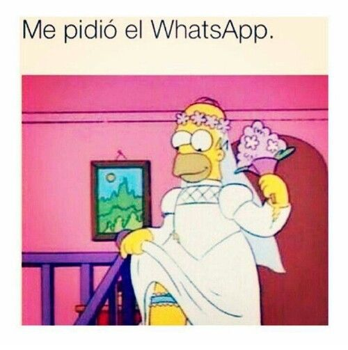 """Me pidio el whatsapp"" homero"