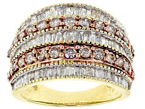 Champagne And White Diamond Ring 10k Yellow Gold 2 00ctw Ddg075 White Diamond Ring White Diamond Diamond Ring