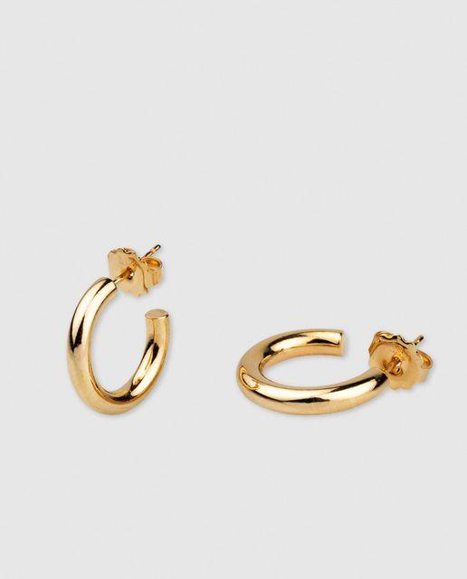 Vidal Vidal Brincos De Aro Chapeado Em Ouro Dourado Aretes De Oro Aretes Argollas De Oro