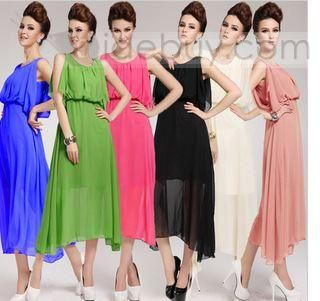 Classy Maxi Silk Chiffon Bohemian Summer  Dress