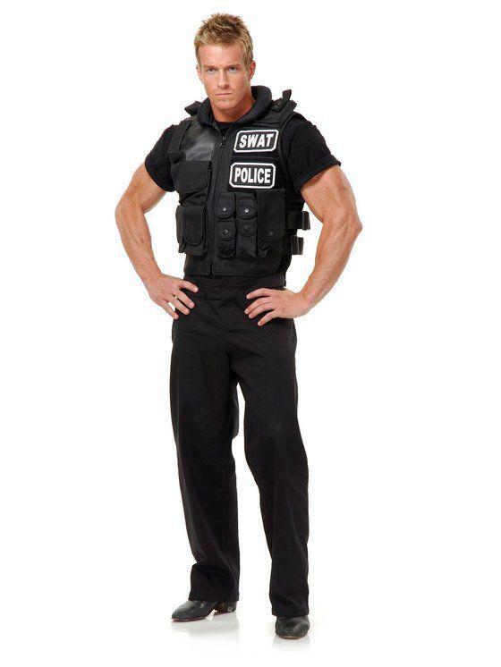 Swat Team Vest Adult Costume Sponsored Swat Team Costume Swat