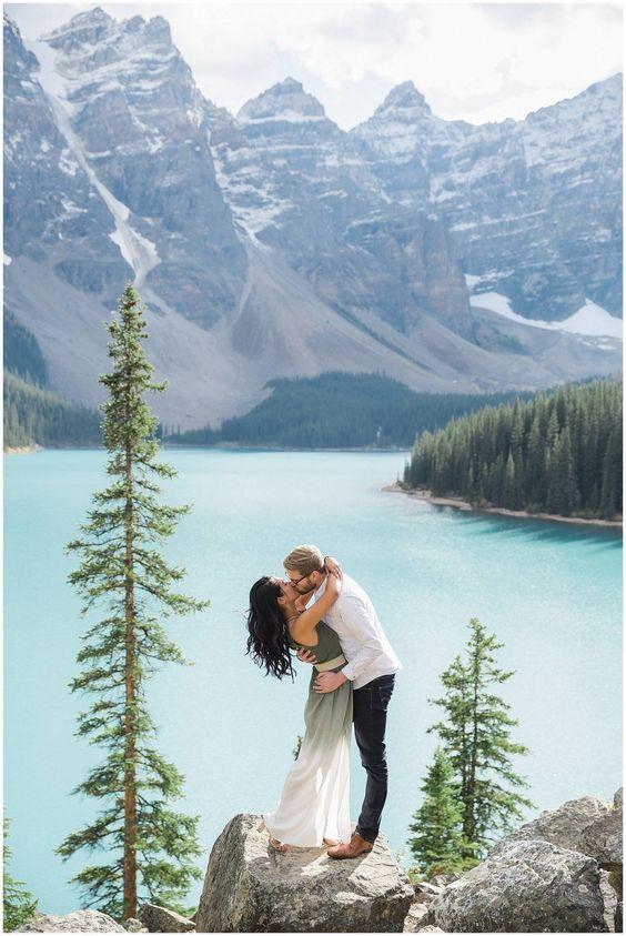 Destination Banff Engagement Session via Rocky Mountain Bride