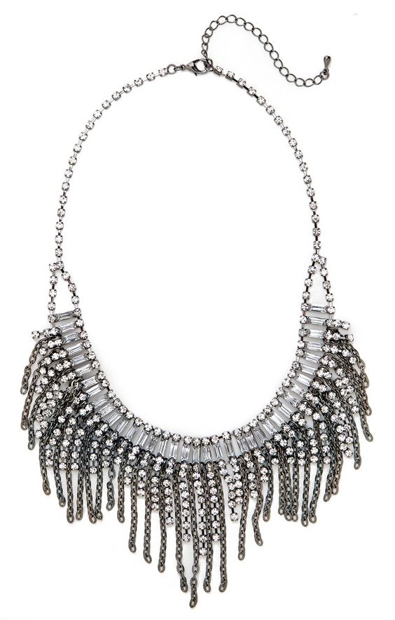 our ice cascade fringe bib from the Courtney Kerr collection!