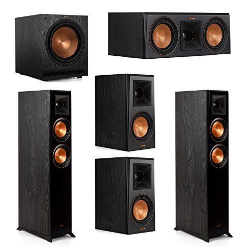 Klipsch 5 1 System With 2 Rp 5000f Floorstanding Speakers 1 Klipsch Rp 500c Center Speaker 2 Klipsch Rp 500m Surroun Surround Speakers Klipsch Center Speaker