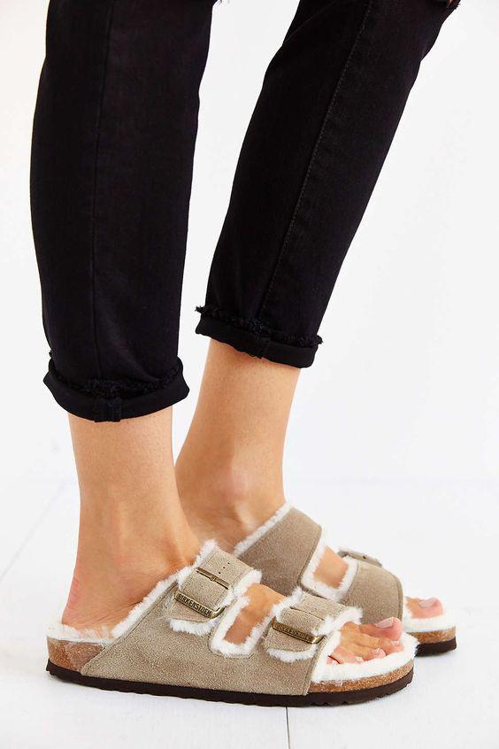 birkenstock arizona taupe suede sandals