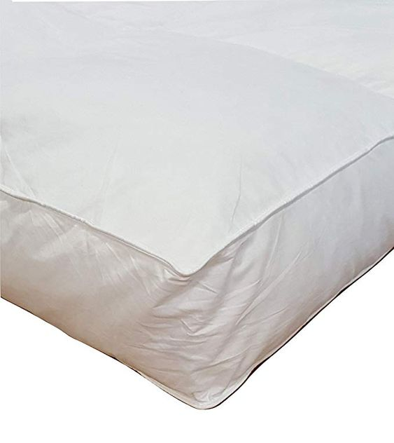 Millsave Premium Hotel Quality 5 Queen 60 X 80 White Goose Down Feather Mattress Topper Featherbed Feather Bed Baffled With High 21 Lb Fill W Feather Mattress Mattress